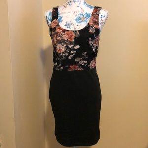 BOGO Pencil floral form fitting dress size large